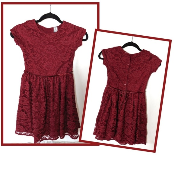 Carter's Other - CARTER'S Fancy Lace Dress Burgundy 8